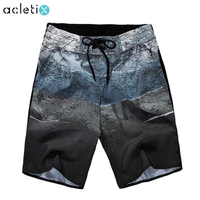 Boardshorts Cartography Print Men Swimming Short