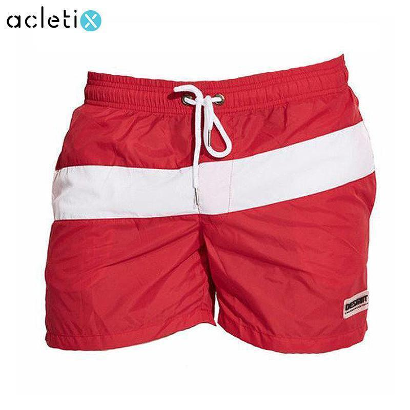Diagonal Stripe Men Swimming Shorts
