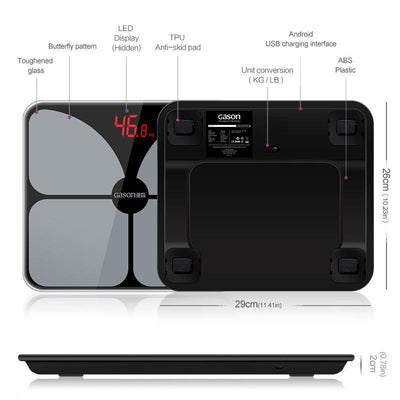 Body Scale USB Charging Scales LED Digital Display Smart Balance