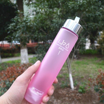 Bottles Colorful Portable Unbreakable Plastic Water Bottle