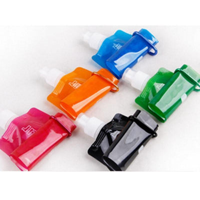 Bottles Flexible Foldable Reusable Water Bags with Hook