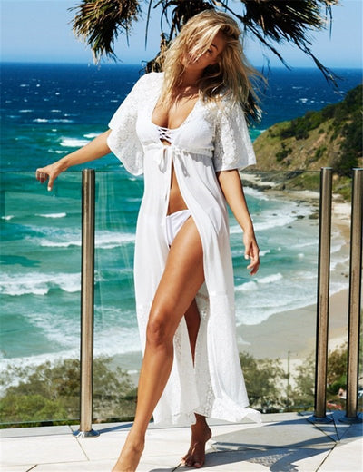 Cover Ups Lace Long Beach Dress