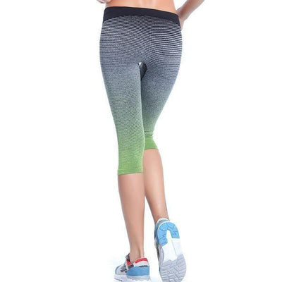 Crops + Capris Stripe Gradient Short Legging