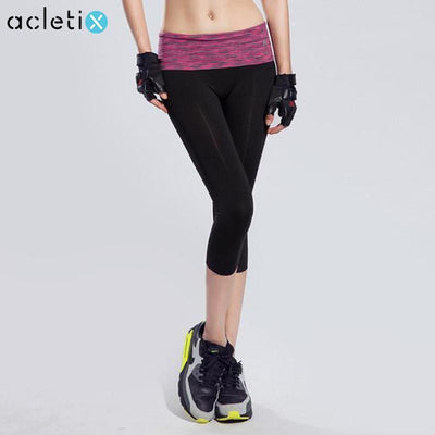 Crops + Capris Tight Slim Women Colorful High Waist Elastic Fitness Legging