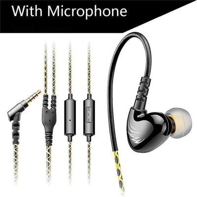 Earphones Bass Sports Headphones Earphones With Mic - Noise Cancelling