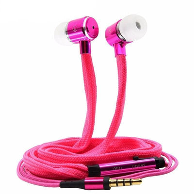 Earphones Shoelace Stereo Earphone With Microphone