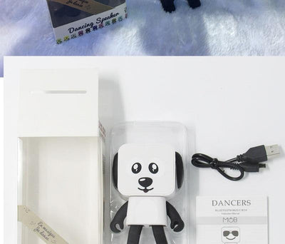 Electronic Pets Cute Portable Smart Dancing Robot Wireless Bluetooth Speaker Dancing Robot Music Dog
