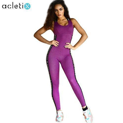 jumpsuit Letter Printed Band Fitness Jumpsuit