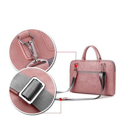 Laptop Bags & Cases Fashion PU Leather Laptop bags for women macbook air casual portable waterproof  Notebook bag