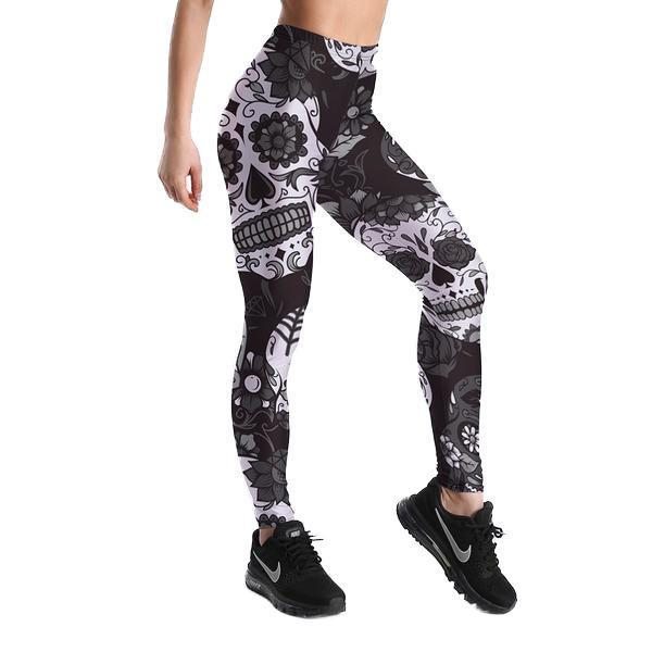 Latin SKull Leggings Fitness Slim Women
