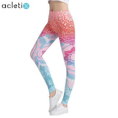 Leggings Lotus High Waist Flower Elastic Fitness Leggings