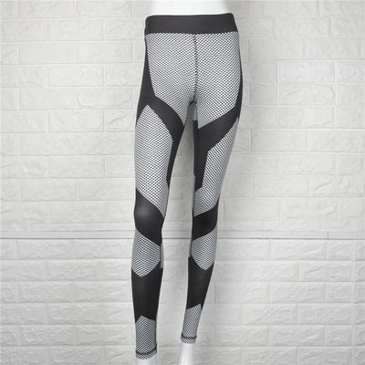 Leggings Mid Waist Push Up Patchwork Pants Elastic Leggings
