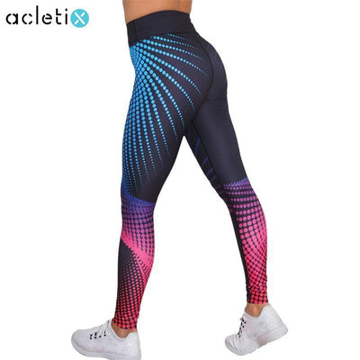 Leggings Push upFfitness legging 3D Dots Coloured Print