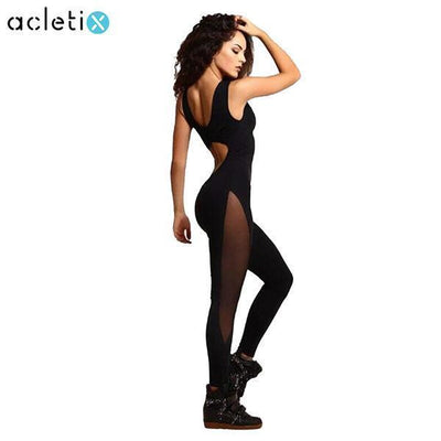 Leggings Sexy Black Mesh Yoga One-piece