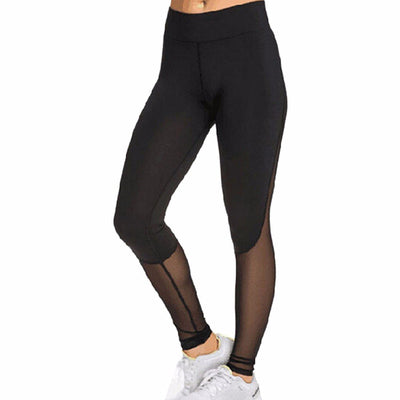 Leggings Sexy Mesh Patchwork Black Fitness Leggings