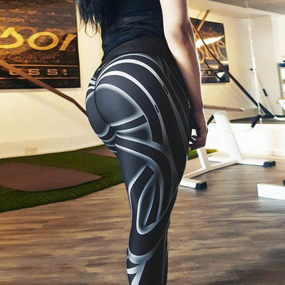 Leggings Striped Feral Printed Sport Leggings Women
