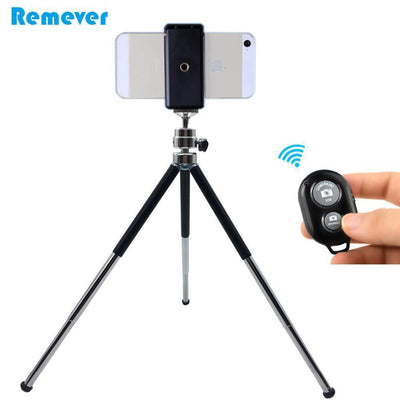 Live Tripods Metal Mini Tripod With Phone Holder Bluetooth Remote  Phones Tripod