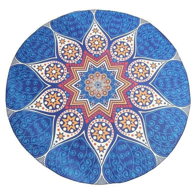 Mandala Beach Blankets Cobalt Blue Boho Gypsy Round Beach Cover up Pareo