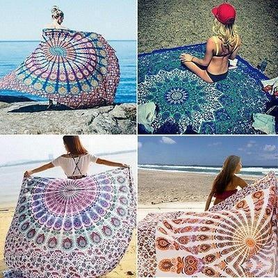 Mandala Beach Blankets Hippie Rectangle Mandala - Tapestry - Wall Hanging - Beach Cover up