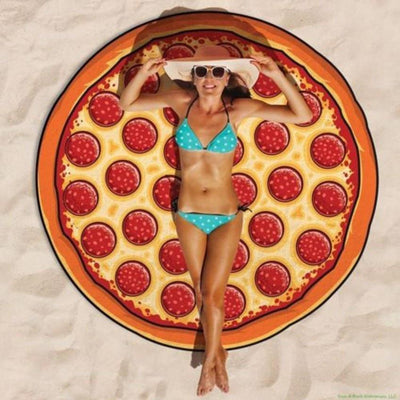Mandala Beach Blankets Pizza Shape Round Beach Blanket Pareo