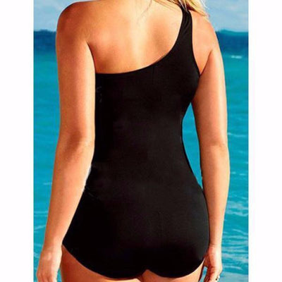 Monokinis Arianna - One Shoulder Black Swimsuit