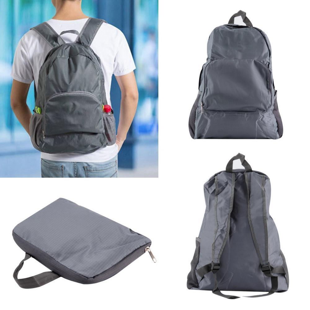 Nylon Foldable Portable Zipper Backpack
