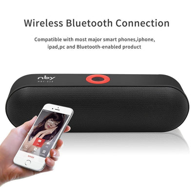 Portable Speakers Portable Bluetooth Speaker with Dual Driver Loudspeaker 12 Hours Playtime Speakers with Mic