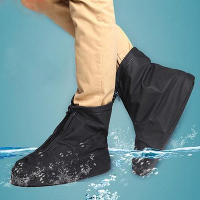 Rain Shoe Covers Solid Black Waterproof Overshoes