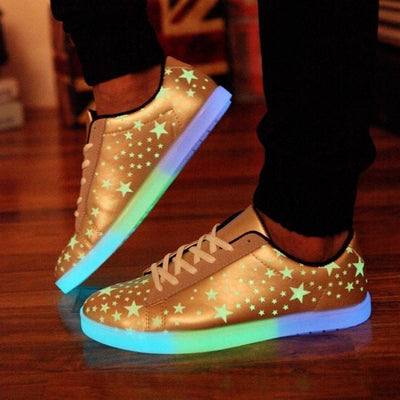 Shoes Luminous Led Women Casual Shoes With Fluorescence Star