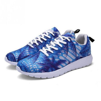 Shoes Printed Silicone Mesh Jogging Shoes
