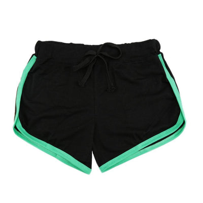 Shorts Leisure Loose Casual Running Women Cotton Sports Shorts - Contrast Binding Side Split