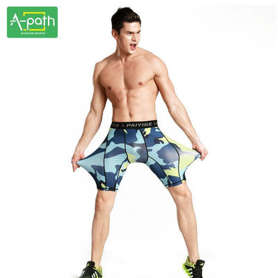 978964b9aae98 Shorts New Summer Outdoors Quick-dry Male Camouflage Fitness Running Tights  Mens Sport Leggings Shorts