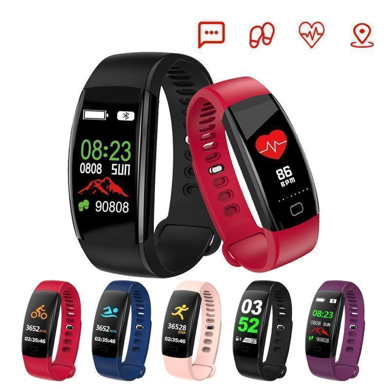 Heart rate Smart band Waterproof Color screen Blood pressure oxygen Fitness tracker smart bracelet GPS watch