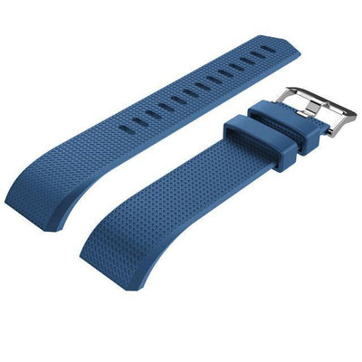 Silicone Bracelet Strap with bukle For Fitbit Charge 2