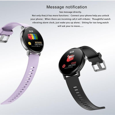 Smartwatches Smart band waterproof Tempered glass Activity Fitness tracker Heart rate monitor women bracelet wristband