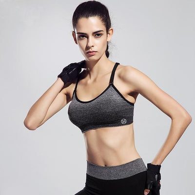 Sports Bras Back Cross Stripes Bra