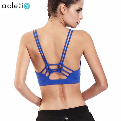 e6c85b07c39a3 Sports Bras Back Knotted Yoga Bra