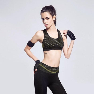 Sports Bras Women Breathable Strech Training Push Up Sport Bra
