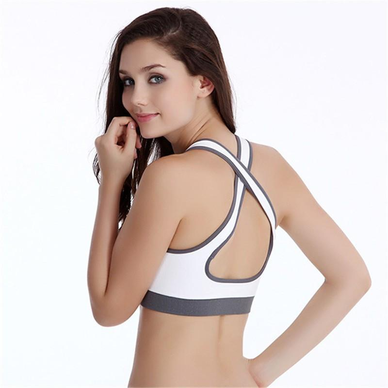 Sports Bras Women Sports Seamless Padded Push Up Bra For Running Gym & Fitness