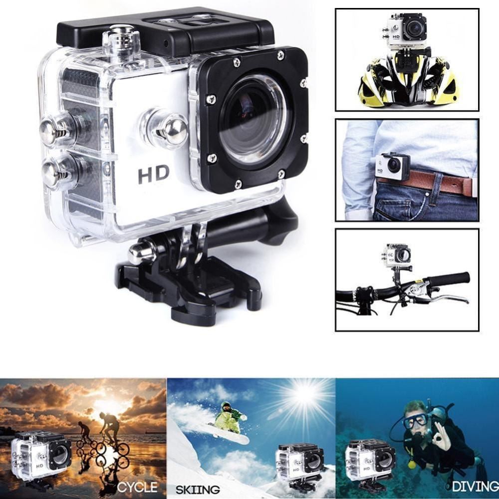 ProCam 720P HD Sports Action Camera - 12MP - 1.5 in. Screen - 170 Degree Lens - By Epiktec