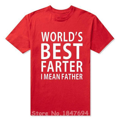 T-Shirts New Summer Style Worlds Best Father T-shirt Funny Gift For Dads Men Short Sleeve Top Tees