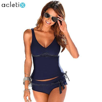 Tankinis Elegant Tankini Set Push Up Women Plus Size Swimwear