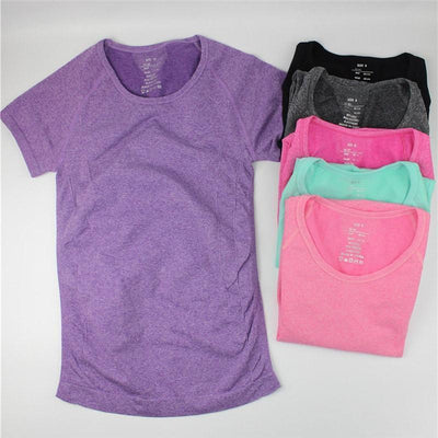 Tees + Tanks Casual Short Sleeve Quick Dry Women Shirt