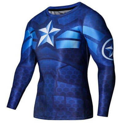 Tees + Tanks MARVEL / AVENGERS Fitness Long Sleeve 3D Compression Shirt