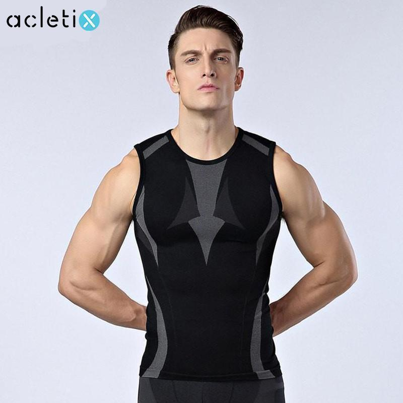 Men Body Slimming Shaper Tank-Top