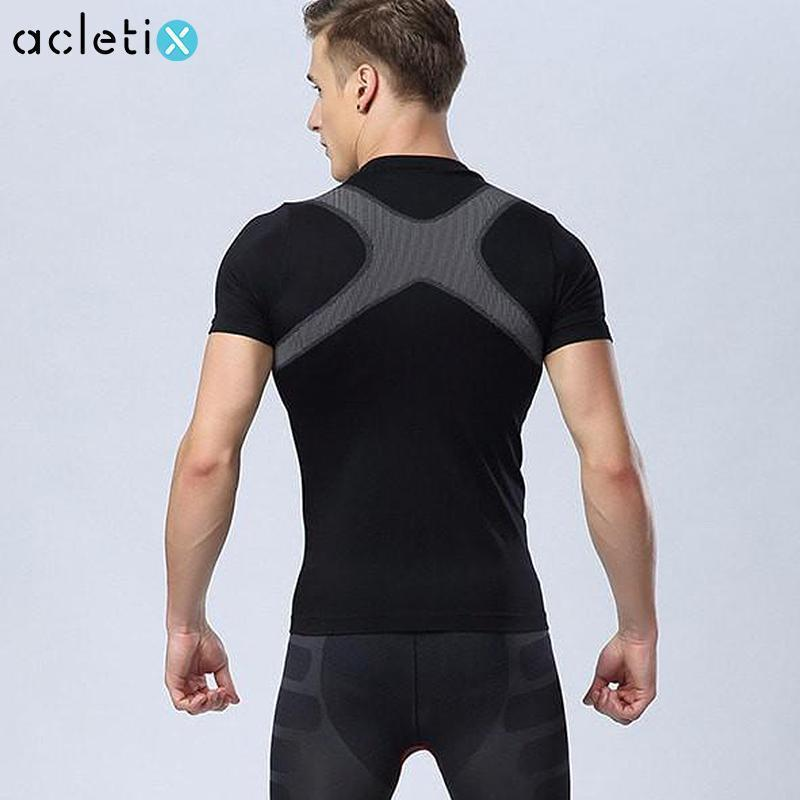 Men's Slimming Body Shaper Fitness Shirts