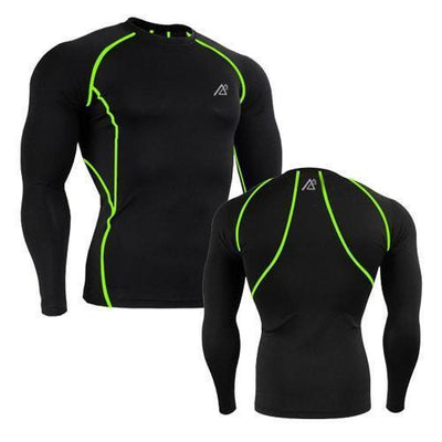 Tees + Tanks Men Workout Compression Body Building Tops - Long Sleeve