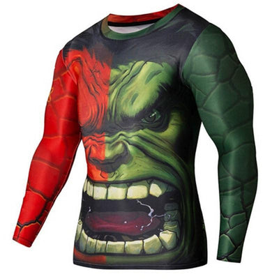 Tees + Tanks New SuperHero Sport Fitness Compression Shirt - Long Sleeve