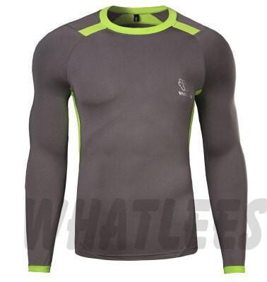 Tees + Tanks Newest Fitness Men Body Building Gym Compression Shirt - Long Sleeve