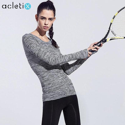 Tees + Tanks Professional Women Fitness Slim Long Sleeve Shirts